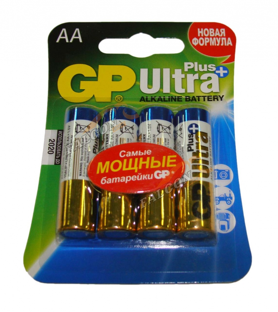 Батарейка GP Ultra Plus 15AUP-CR4 LR6 BL4, AA 4 шт в магазине RentaPhoto.Store