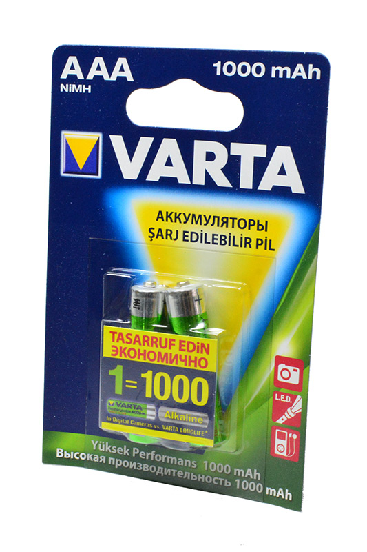 VARTA5703 Ready 2 Use AAA 1000mAh BL2 в магазине RentaPhoto.Store